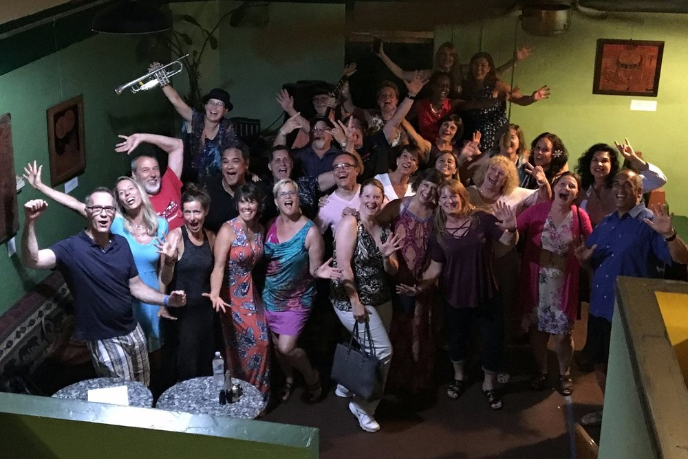 Celebrating after our Epic Cafe show in Tucson, Arizona (July 2017)!