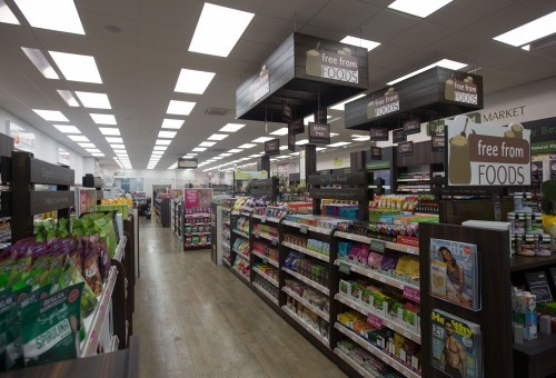 LEDtec supplied LED Flat panels & LED Troughs in a Holland & Barrett store