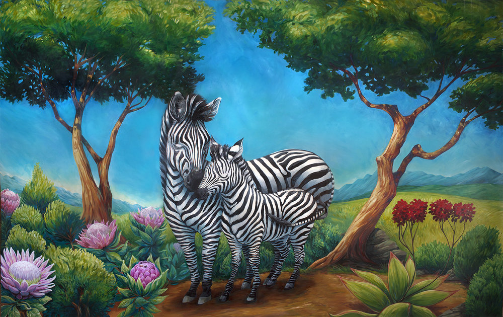 """We've Got This"" - Zebra Centre's new mural by artist Crystal Driedger"
