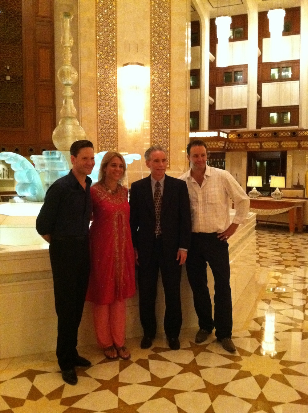 With the Hot Club of Cowtown and US Ambassador to the Sultanate of Oman   Richard Schmierer