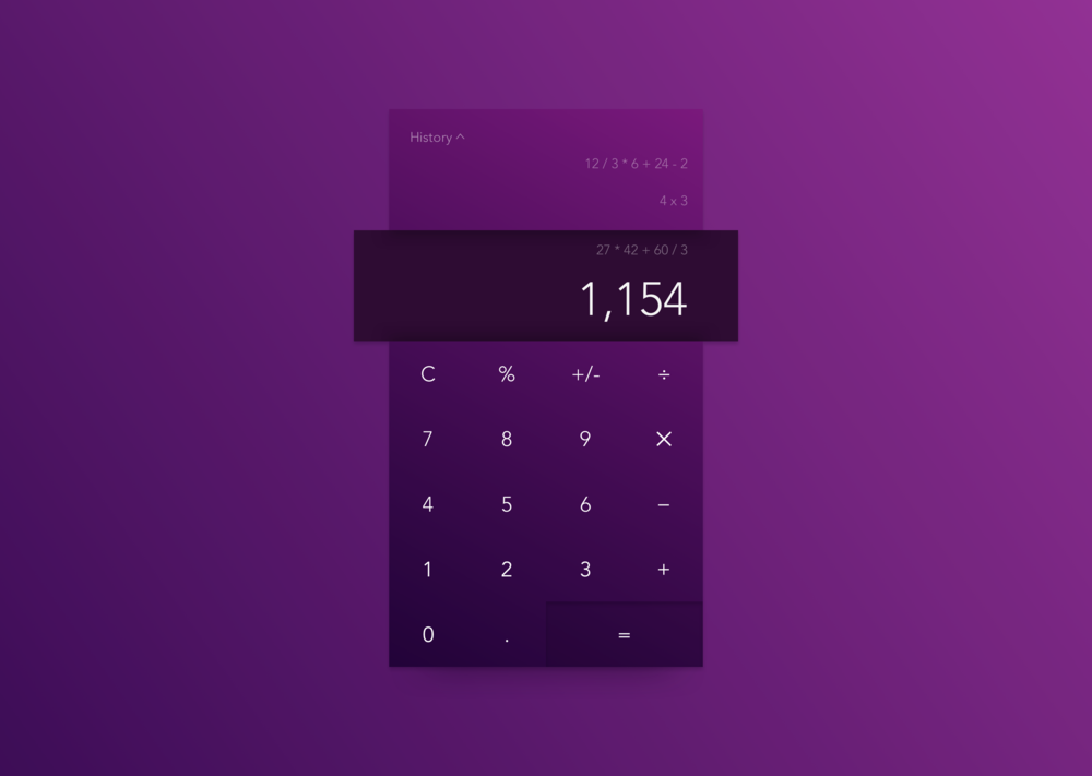 Daily UI #004—Calculator