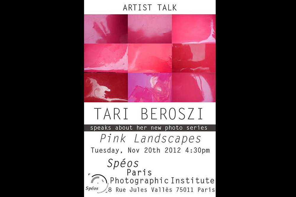 Artist Talk. Spéos École de Photographie, Paris, France, 2012