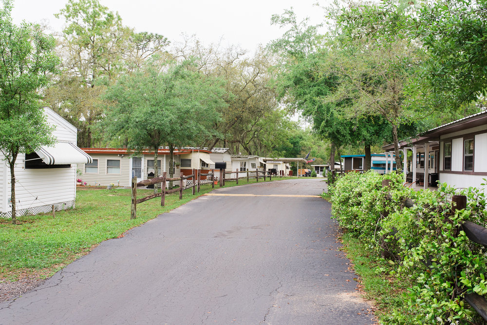 55 and older RV park in Dade City Florida street view