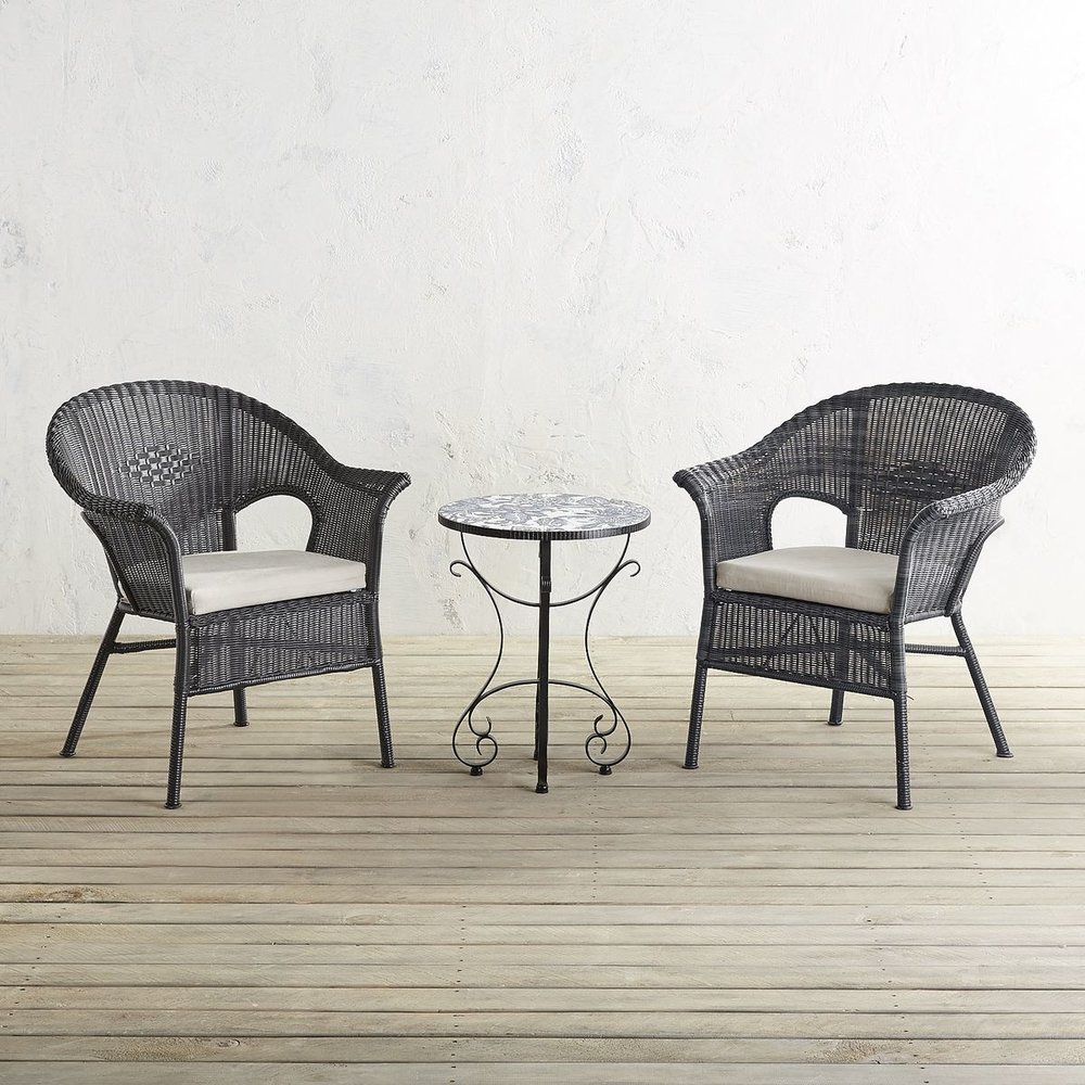 6. Outdoor furniture is always a great item to include on your registry, especially if you and your sweetie are big on outdoor entertaining. Working with limited space? We love this three piece patio set that is perfect for small porches or balconies just for the two newlyweds to enjoy.   Pier One