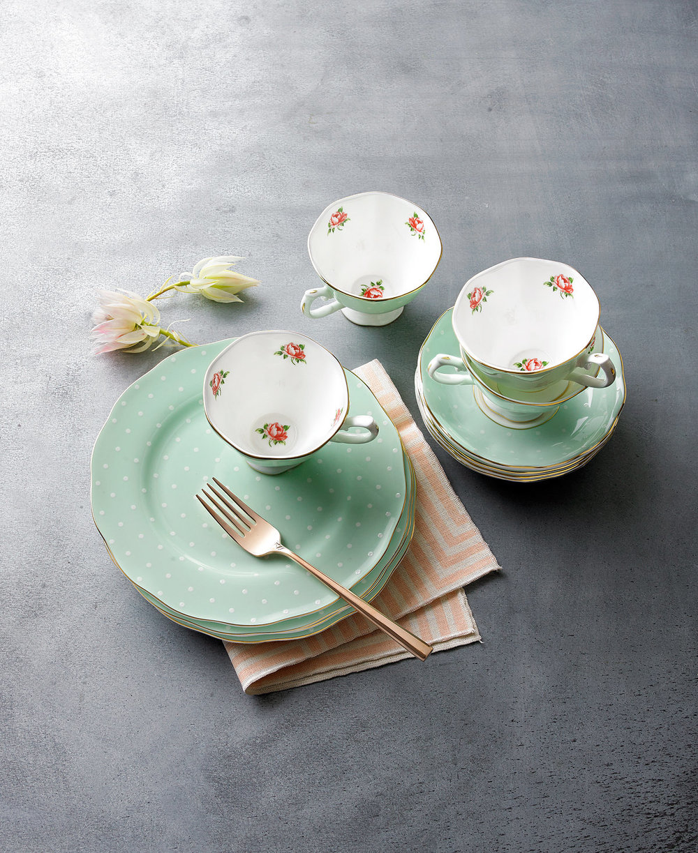 7. Since we are known for being just a hair on the unconventional side, we wanted to throw in this ADORABLE tea set to distract you from the boring items you can sometime get inundated with while selecting your registry items. Does this mean that we would opt for all polka dot dishes? Maybe, maybe not. But it does mean we are dying over how precious this tea set is.   Macy's
