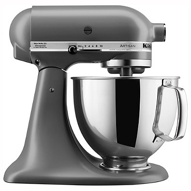 8. While we may not be super, super traditional there is one item that we just can't seem to go without mentioning. This badass Kitchenaid stand mixer. Yes, it lives up to the hype. No, you don't have to be a baking expert to get use out of it. Our bride-to-be, Tracy (AKA Trace) just got hers in the mail (thanks Gramps!) and cannot get enough of it! Did you know you can shred chicken and make guacamole in this thing?! Say no more, we are sold.   Bed Bath and Beyond
