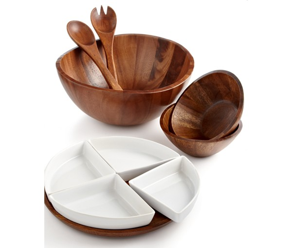 8. We might have skipped around quite a bit in this post, but that's what you get ;) We absolutely love this serving set. This acacia wood is phenomenal and is so classic, yet elegant on any dining room table. We especially love it because the tray looks like it would be perfect for slices of a personal size pizza...just us?   Macy's