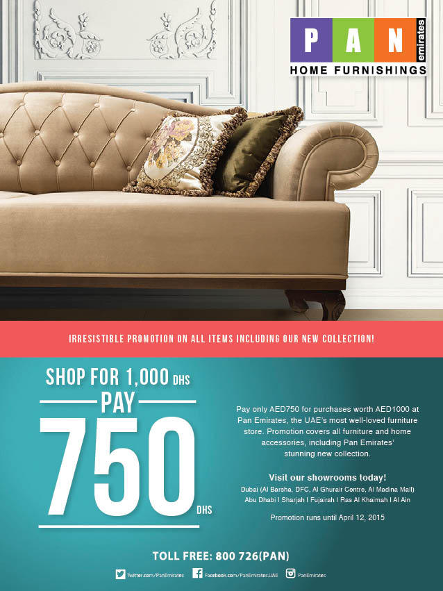 Pan Emirates Furniture Promo Creative Campaign Creo