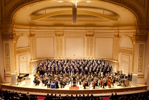 "Carnegie Hall premiere of my hour-long ""Flowers over the Graves of War"""