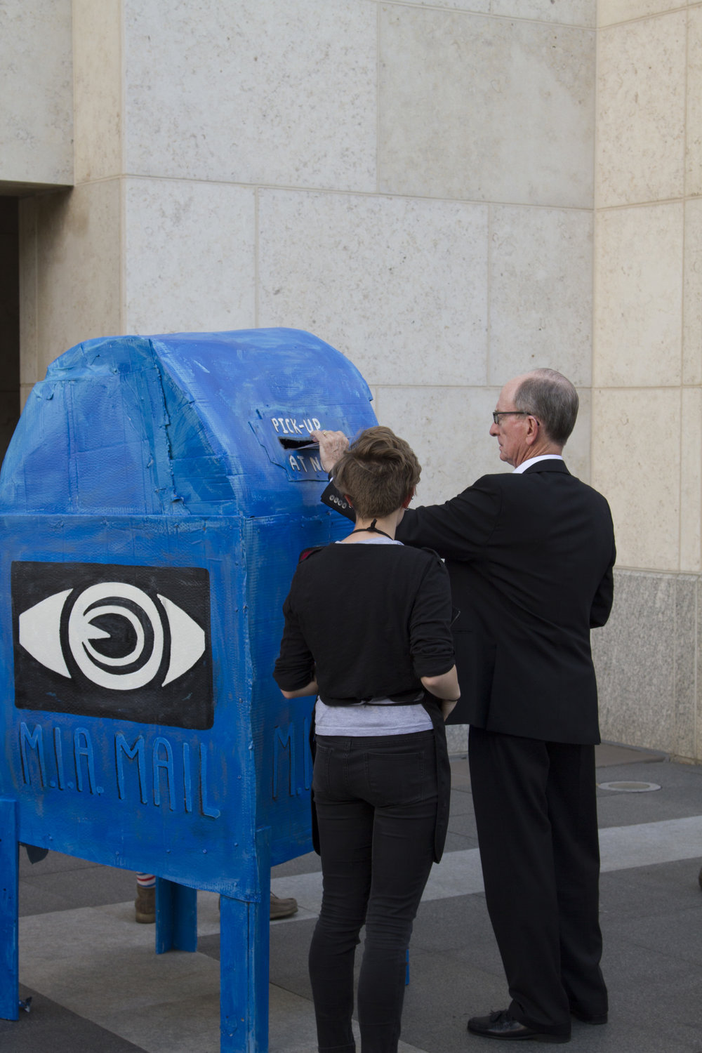 "Preston Drum - ""Big Blue Mailbox"" from the SHARE WHAT YOU SEE activation, June 2015, Minneapolis Institute of Art. Photo courtesy of  Christopher Selleck"