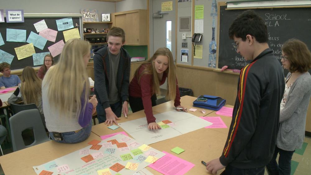 Jennifer's students exploring a challenge