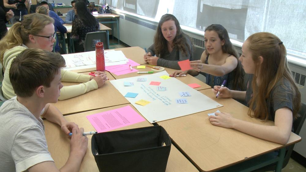Jennifer's students collaborating