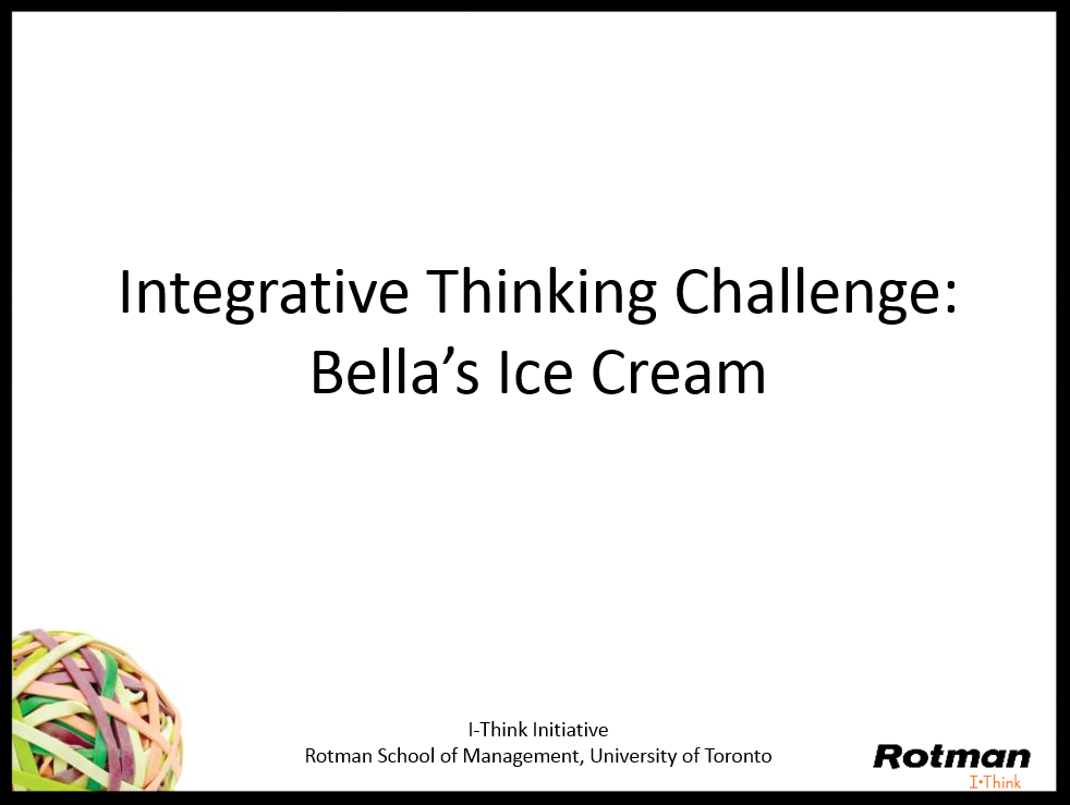Slides for Bella's Ice Cream Challenge