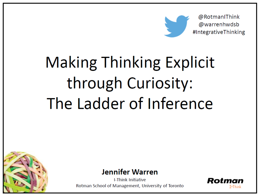 Download Making Thinking Explicit through Curiosity slides.