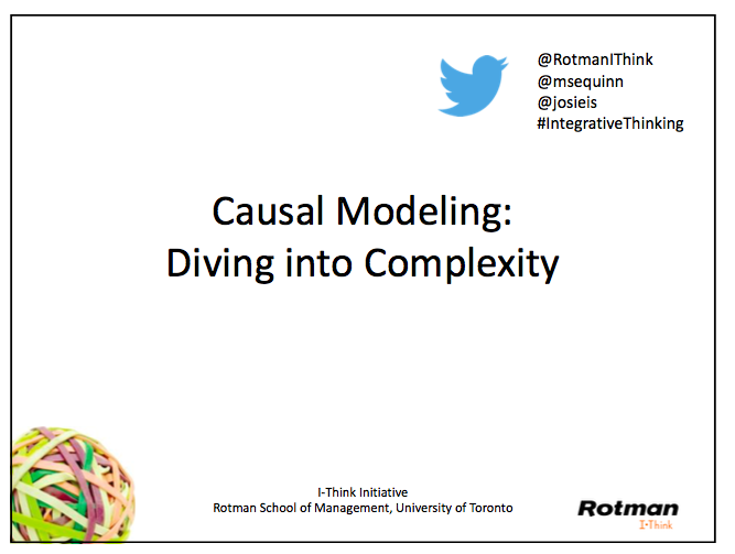 Download slides from Diving into Complexity.