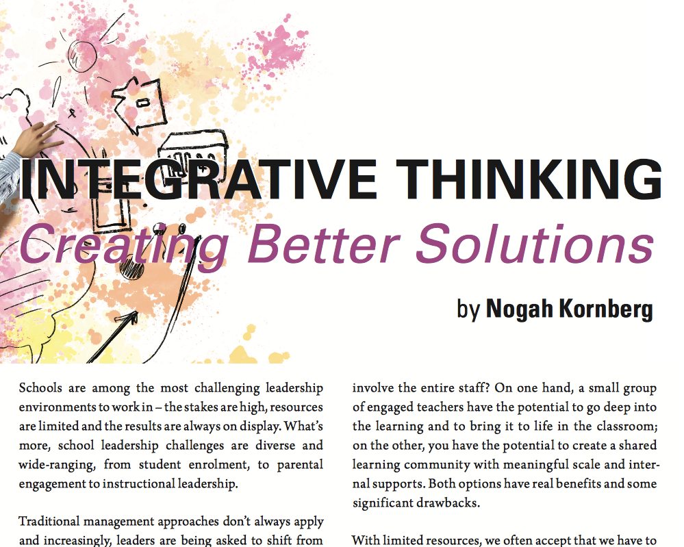 Integrative Thinking: Creating Better Solutions   by Nogah Kornberg