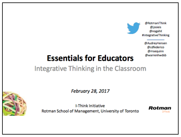 Download Introduction to Integrative Thinking slides.