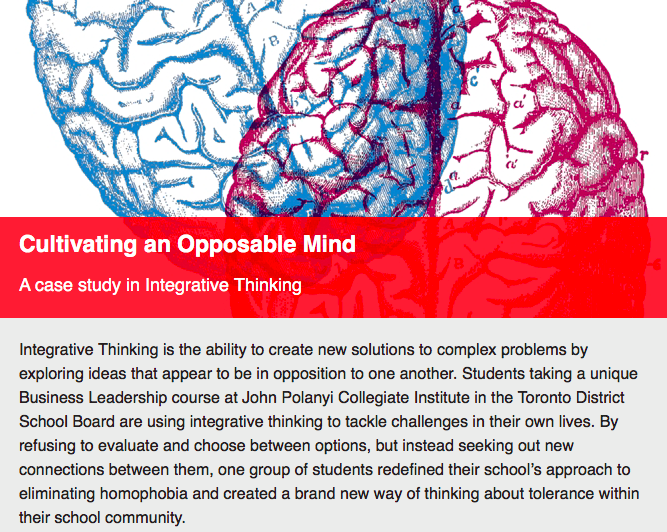 Cultivating an Opposable Mind by Ellie Avishai