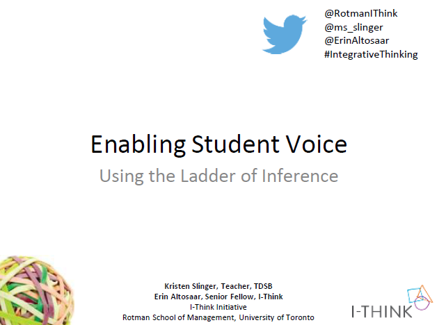 Leveraging Student Voice through Metacognition -