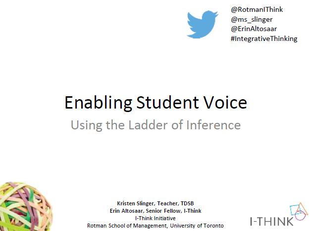 Leveraging Student Voice through Metacognition -