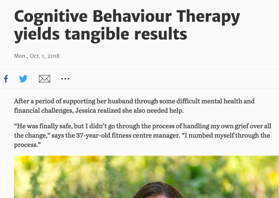Cognitive Behavioural Therapy Yields Tangible Results -