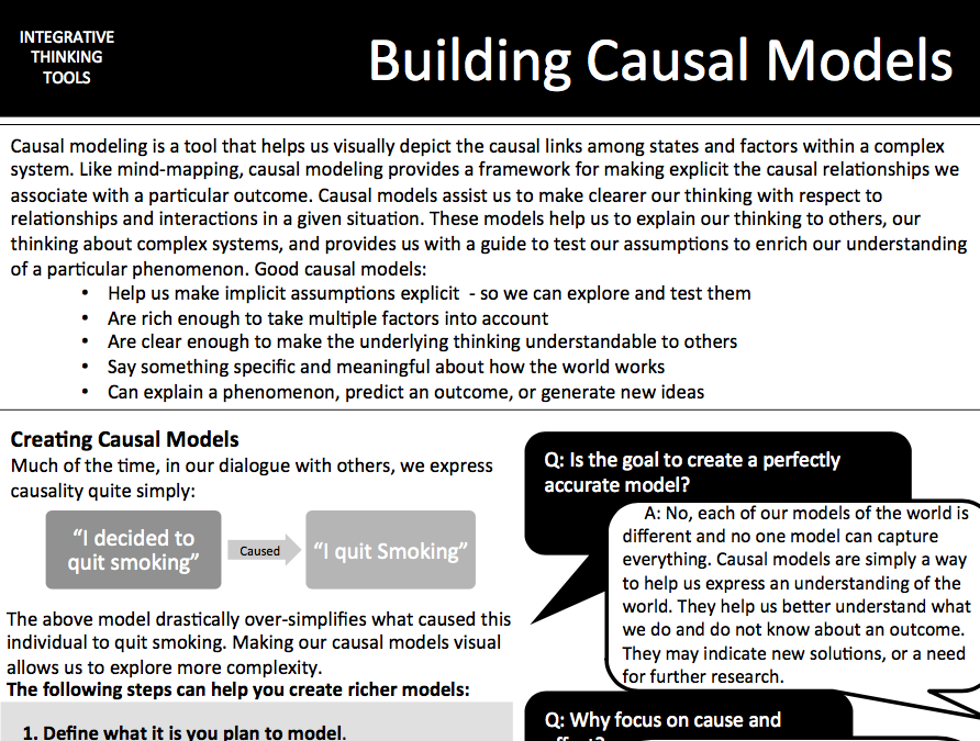 Causal Model Cheat Sheet -