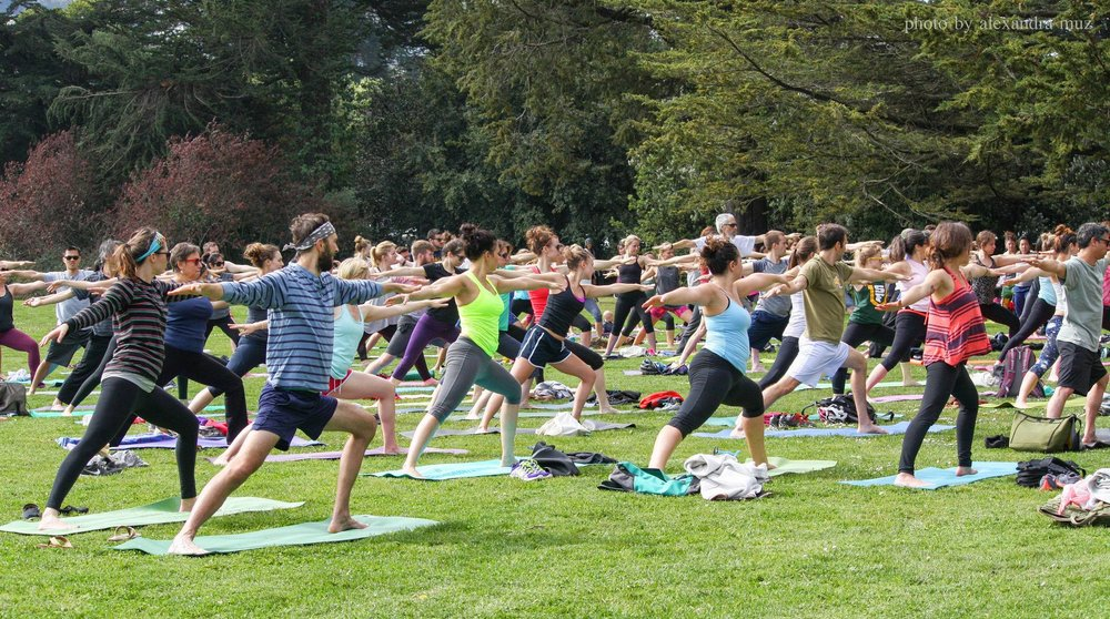 Free Yoga in Golden Gate Park