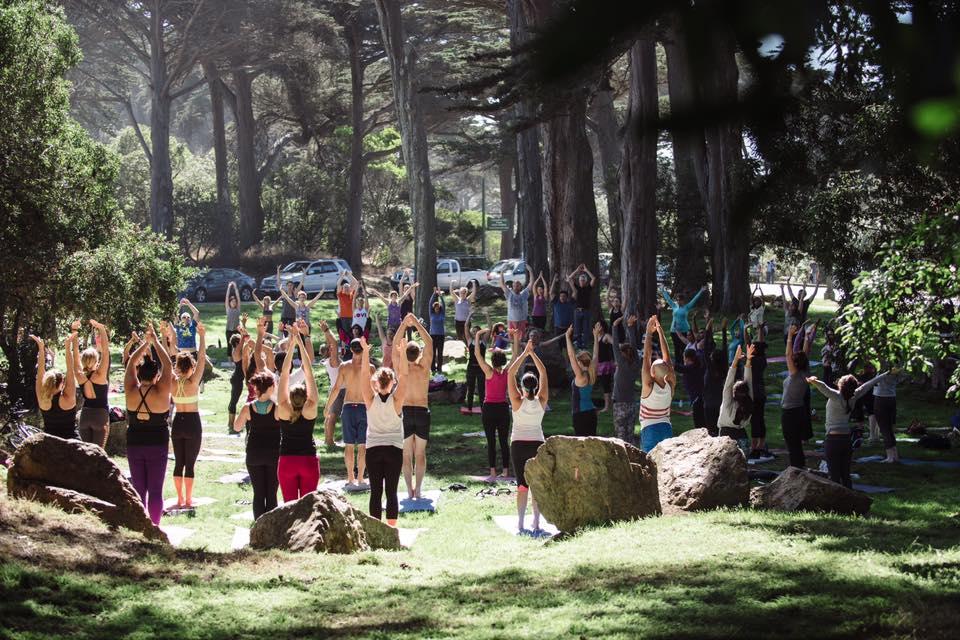 Salutations for Nepal in Golden Gate Park