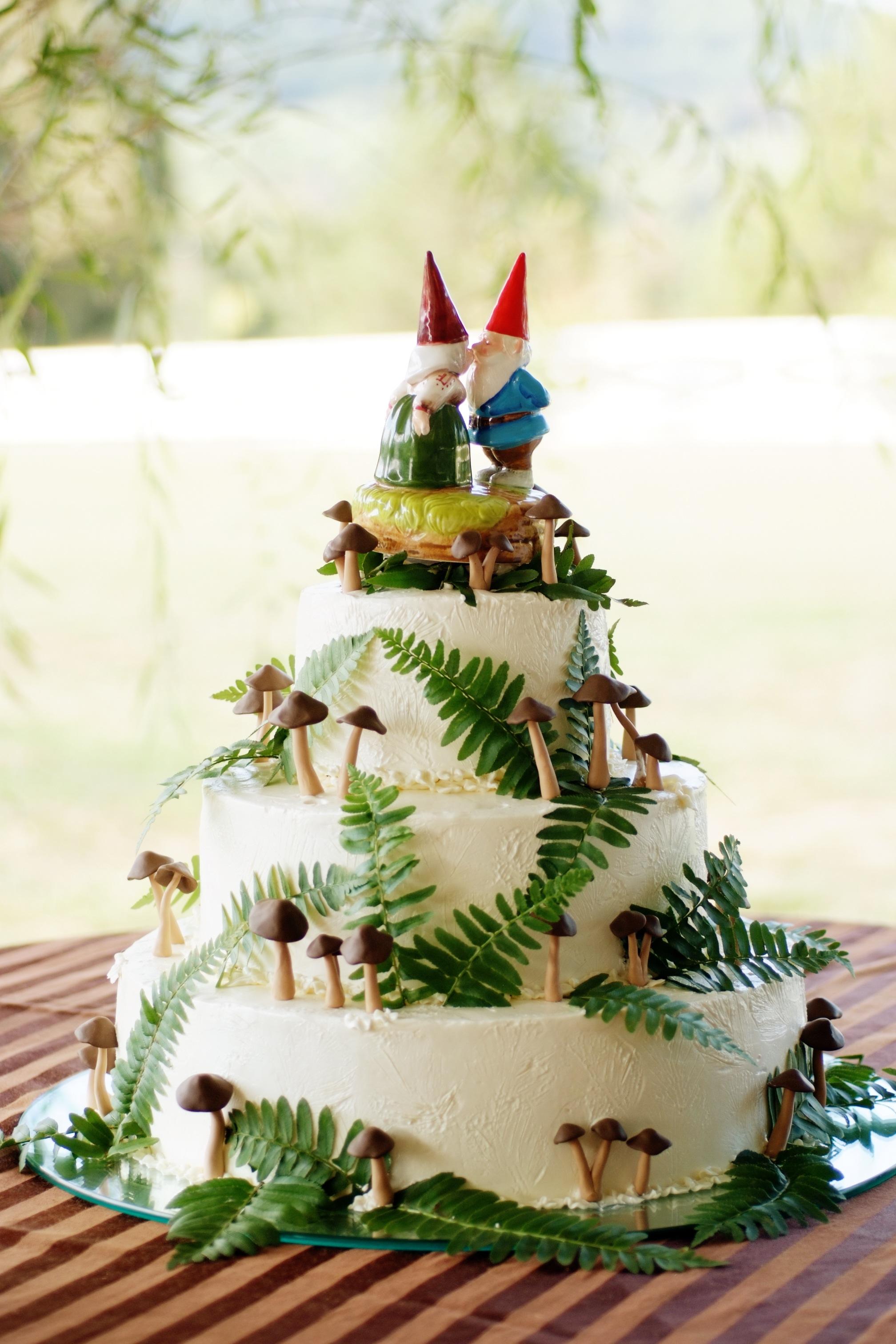 gnome mushroom wedding cake