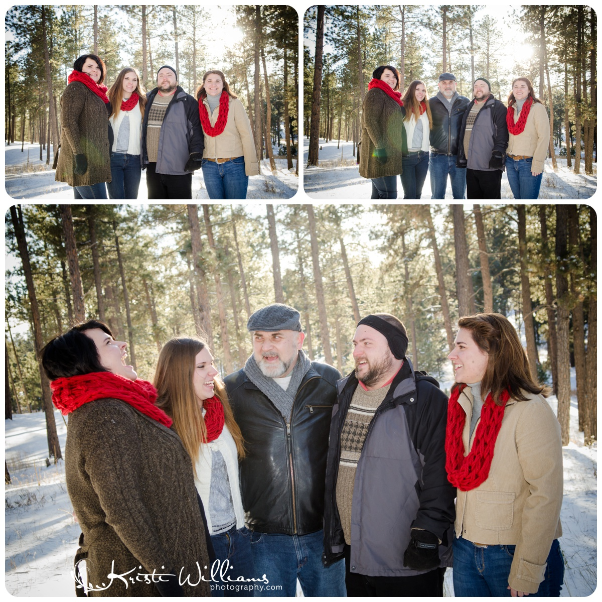 extended family group snow photography colorado springs