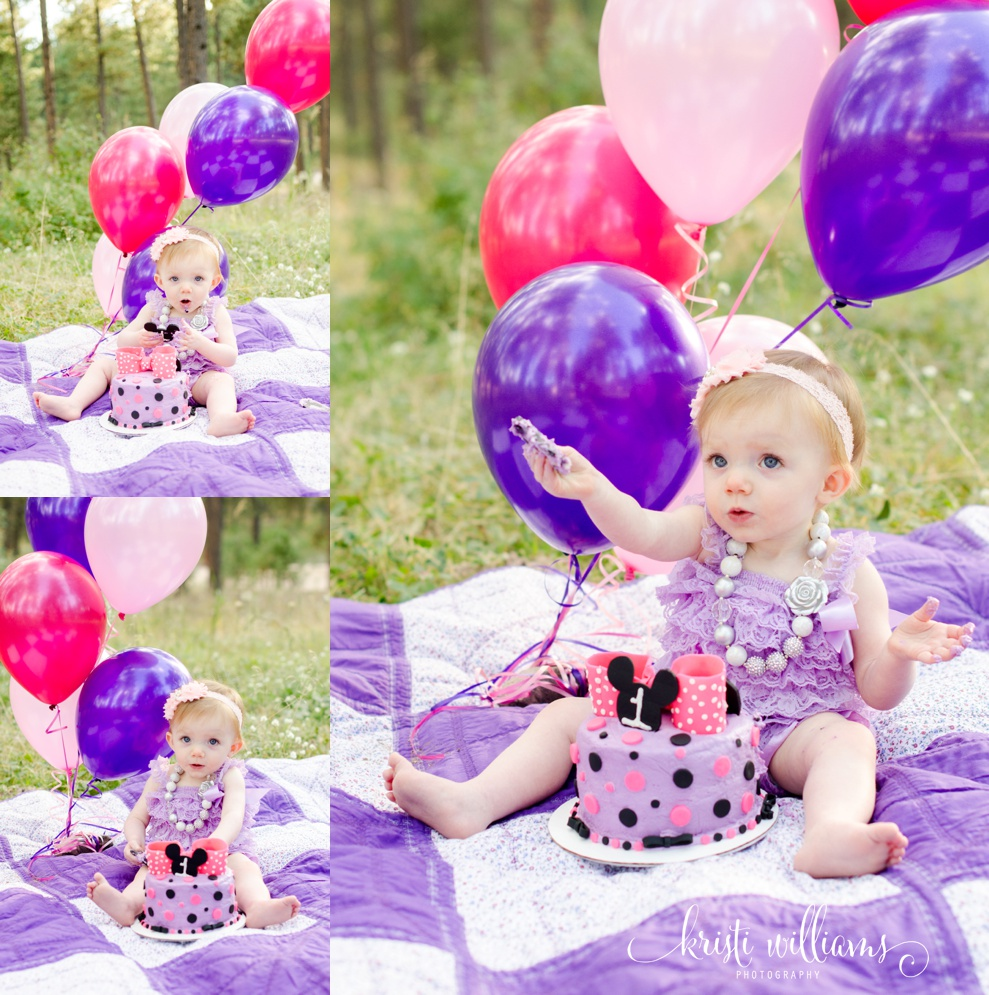 colorado springs 1st birthday cake smash photography kristi williams
