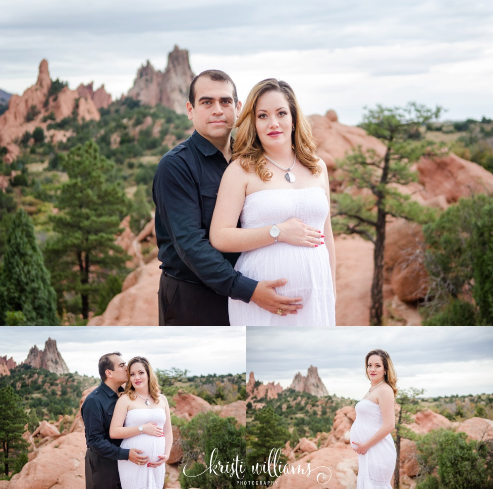 beautiful maternity photos at garden of the gods by kristi williams photography