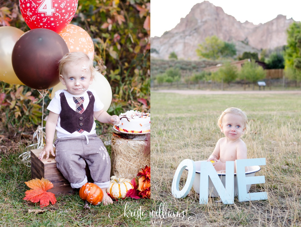 fall birthday cake smash photography colorado springs kristi williams photography