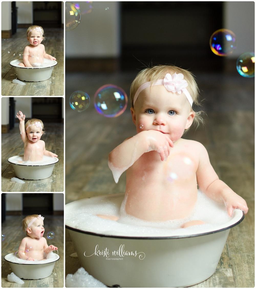 kristi Bubble bath pregnant