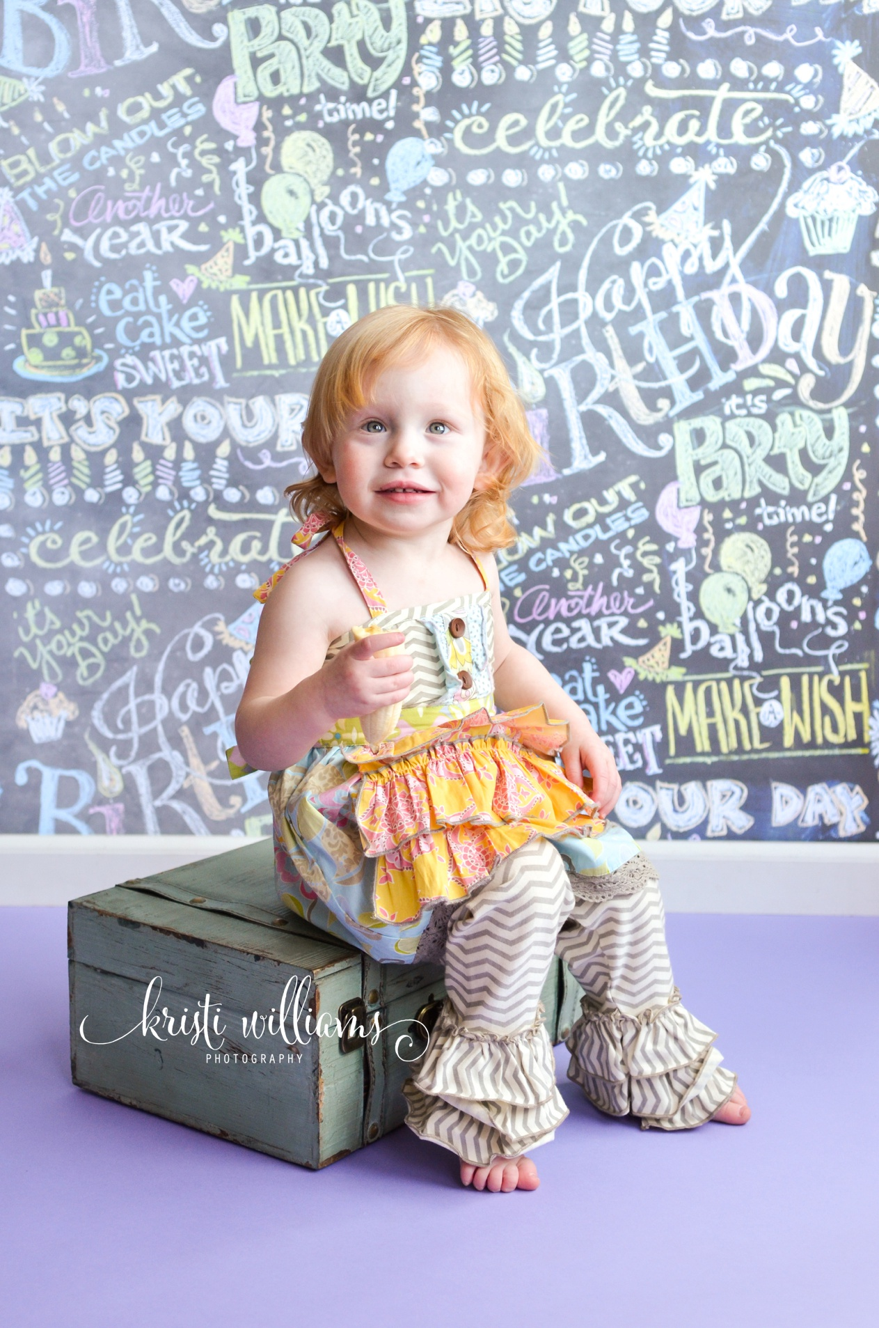 2 year old cake smash birthday photography by Kristi Williams Photography Colorado Springs