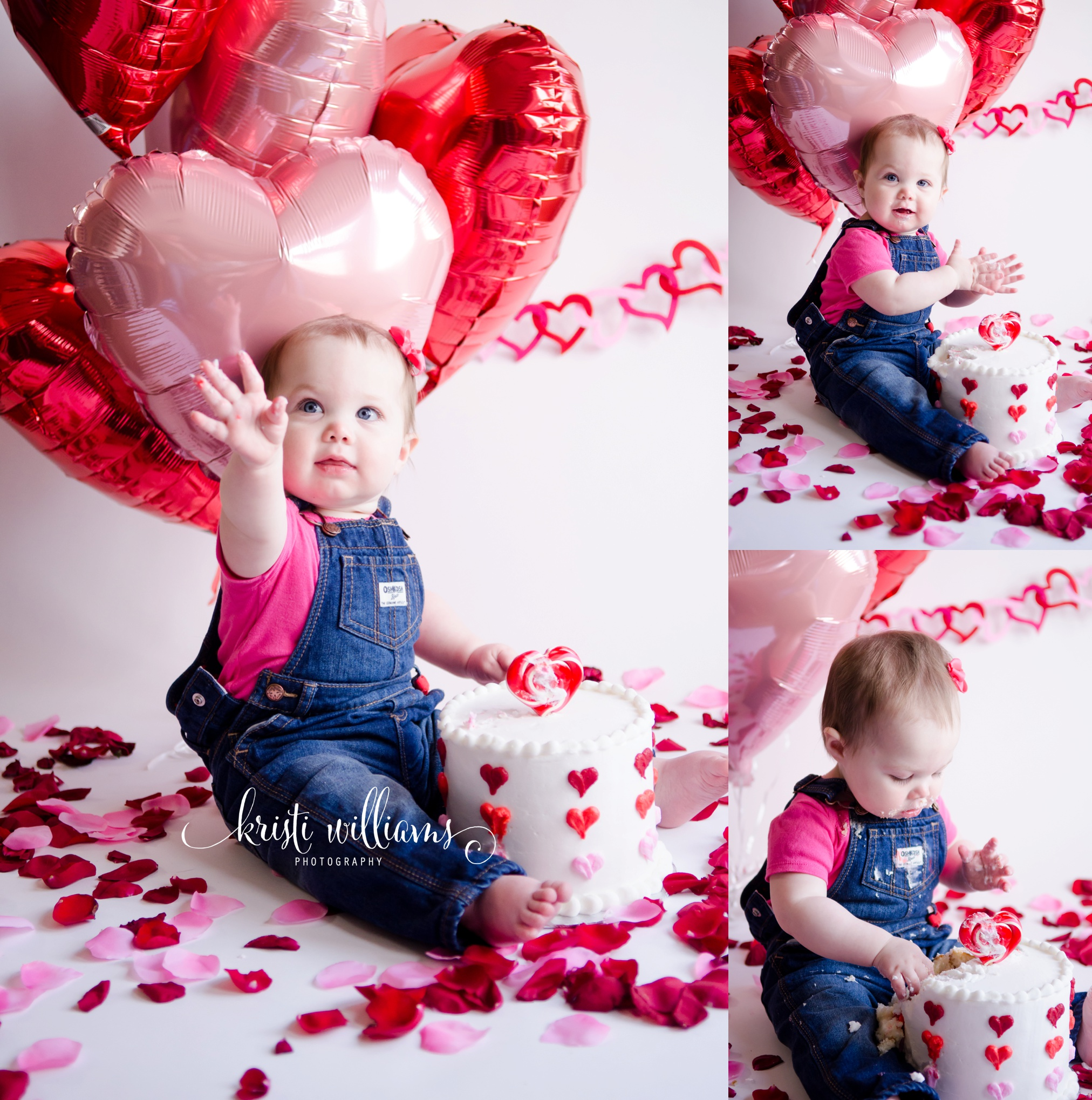 One year old cake smash colorado springs by Kristi Williams Photography