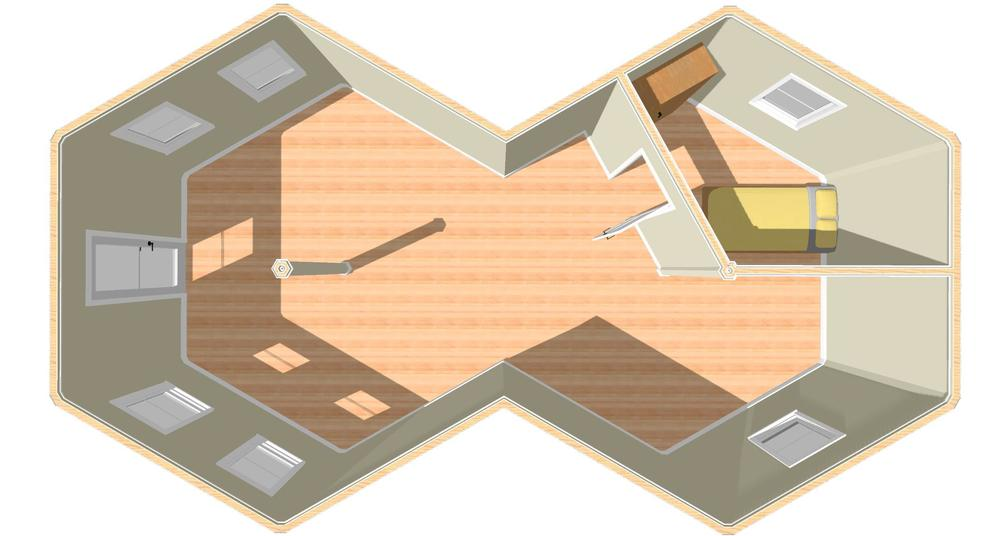 Plan View with Bedroom