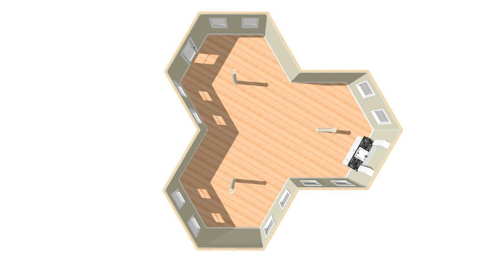 Plan View with Kitchen
