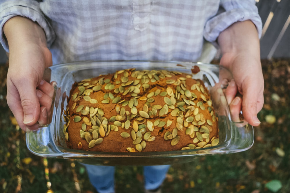 Pumpkin, Apple and Cinnamon Harvest Bread