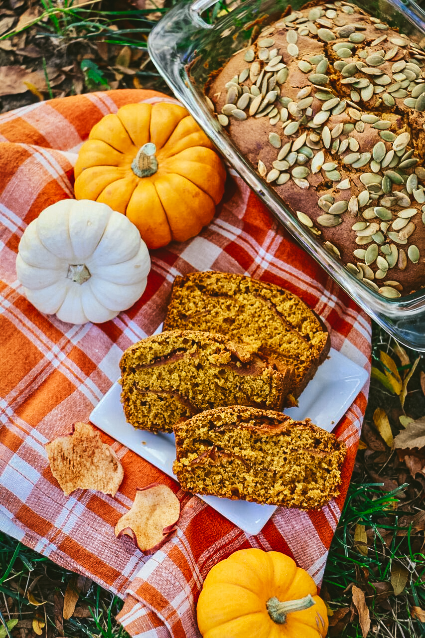 Pumpkin, Cinnamon and Apple Harvest Bread