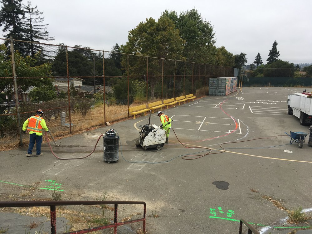 At Melrose Leadership Academy, work is now underway to make the campus greener and help children learn outside. The demolition work is being graciously donated by DPR Construction through a Melrose parent. Many thanks to DPR! Photo credit: the trust for public land