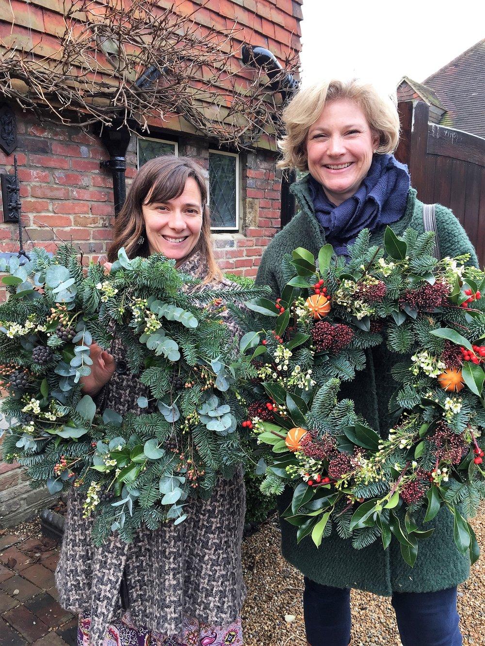 Beautiful abundant Christmas wreaths