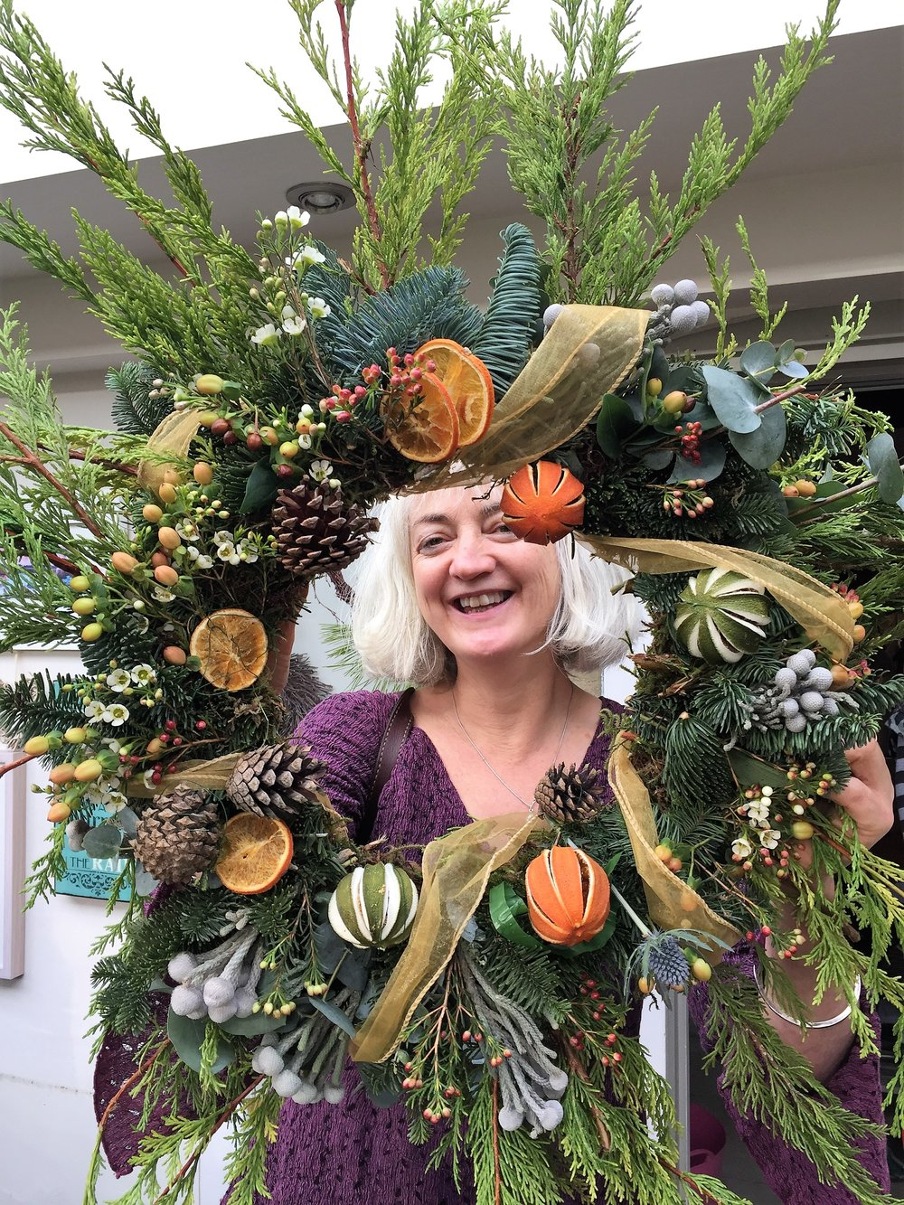 A fun, freestyle festive wreath