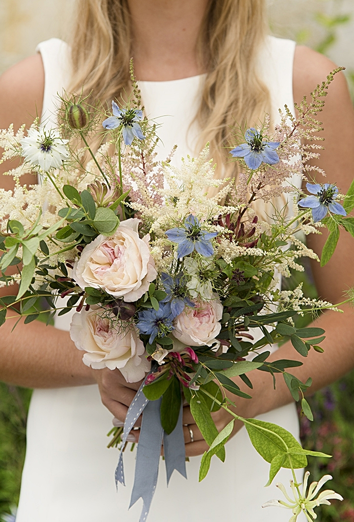 Nigella hand tied bridal bouquet