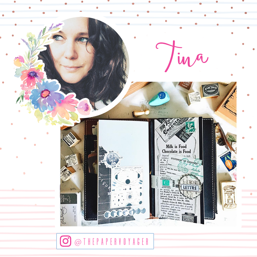 Welcome Tina!  www.instagram.com/thepapervoyager/