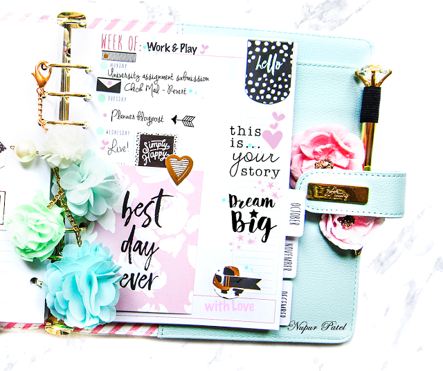 The goodie pack and sticker packs are so amazing, you cannot help but play around with it.I so enjoyed using them while planning.The Mint Crush Tassel is a cherry on the top.Beautiful compliments to the look.  -