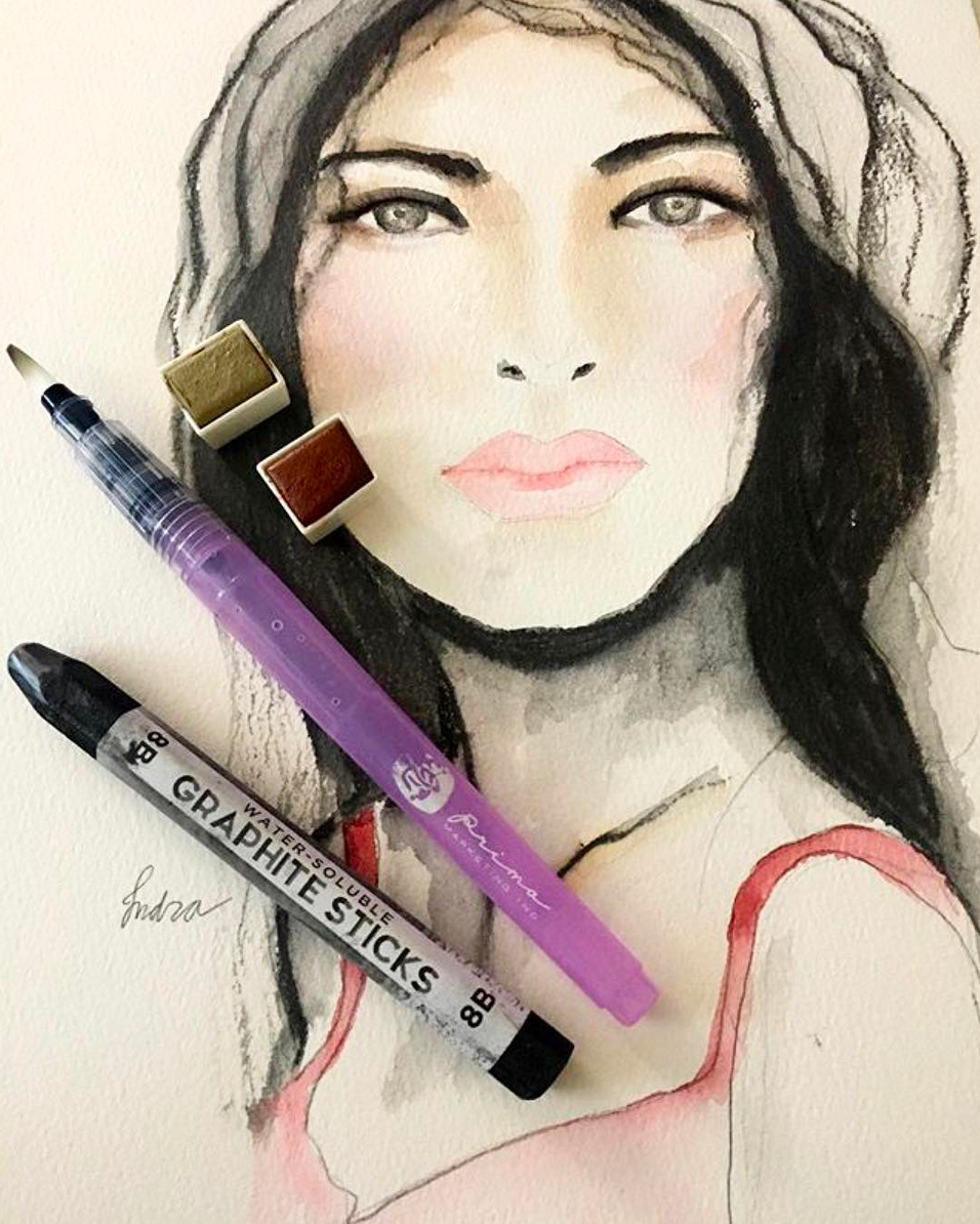 project by @mollyindra using our water-soluble graphite sticks!