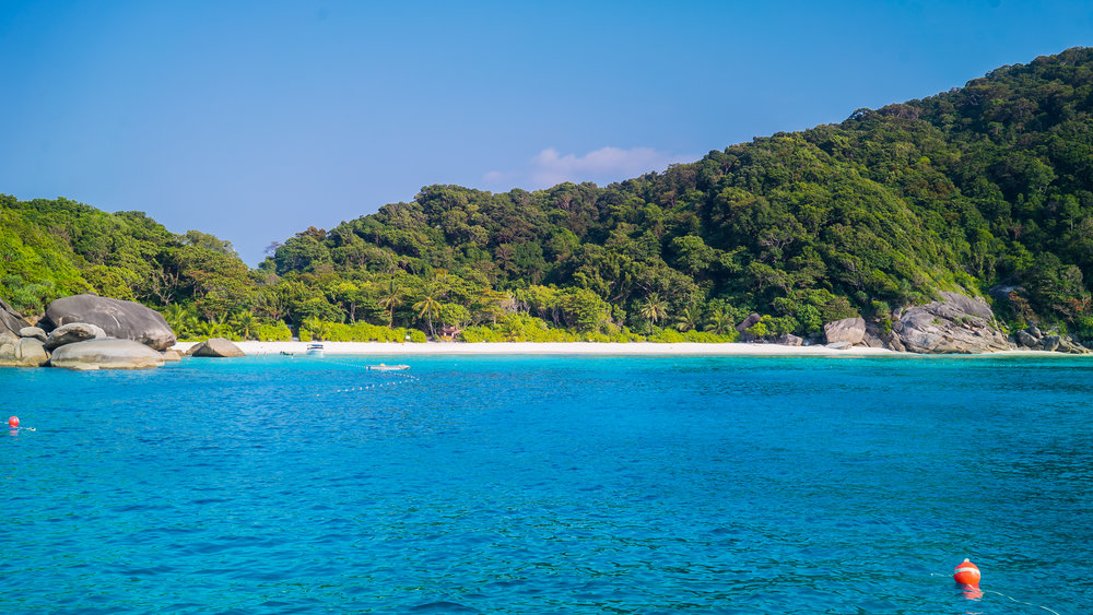 The Similan Islands.