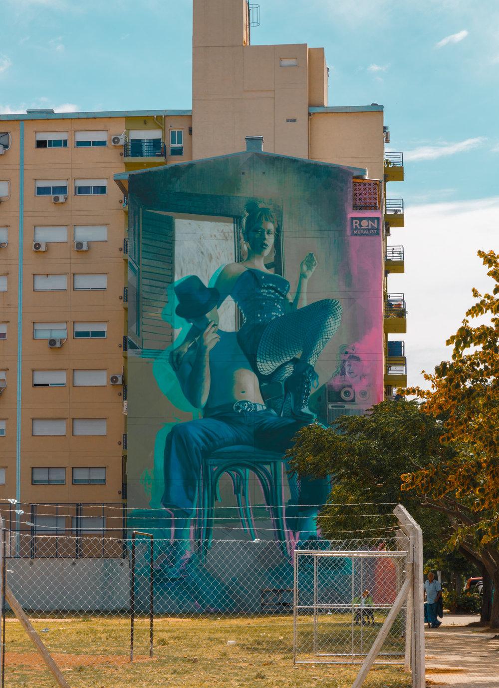 """Tango & Rock"" mural by Ron Martin"