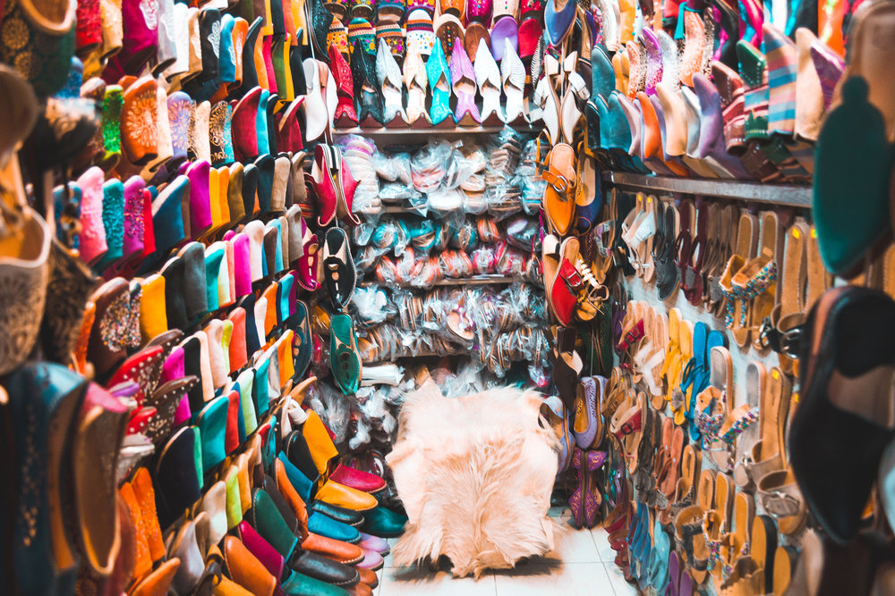 Shoe shop in Morocco